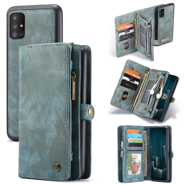 Multi-slot Suojakotelo Galaxy A51 sininen