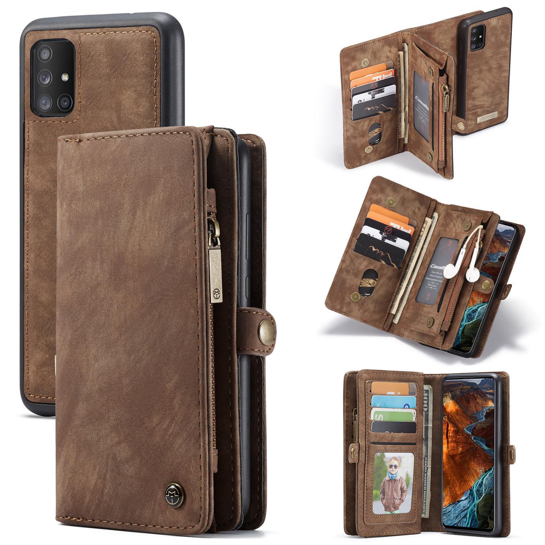 Multi-slot Suojakotelo Galaxy A51 ruskea