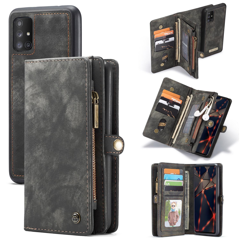 Multi-slot Suojakotelo Galaxy A51 harmaa