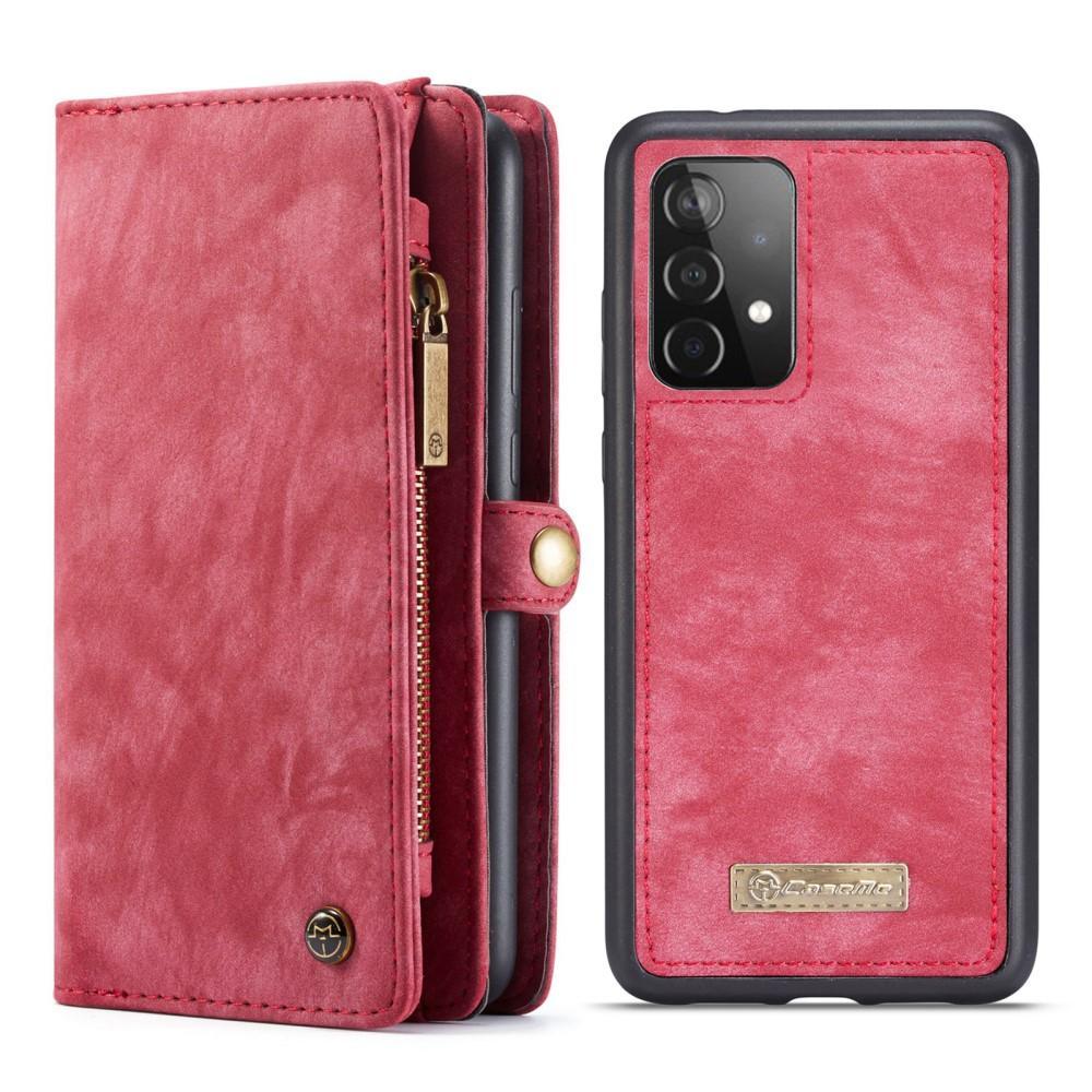 Multi-slot Suojakotelo Galaxy A52 punainen