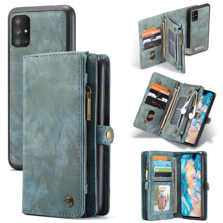 Multi-slot Suojakotelo Galaxy A71 sininen