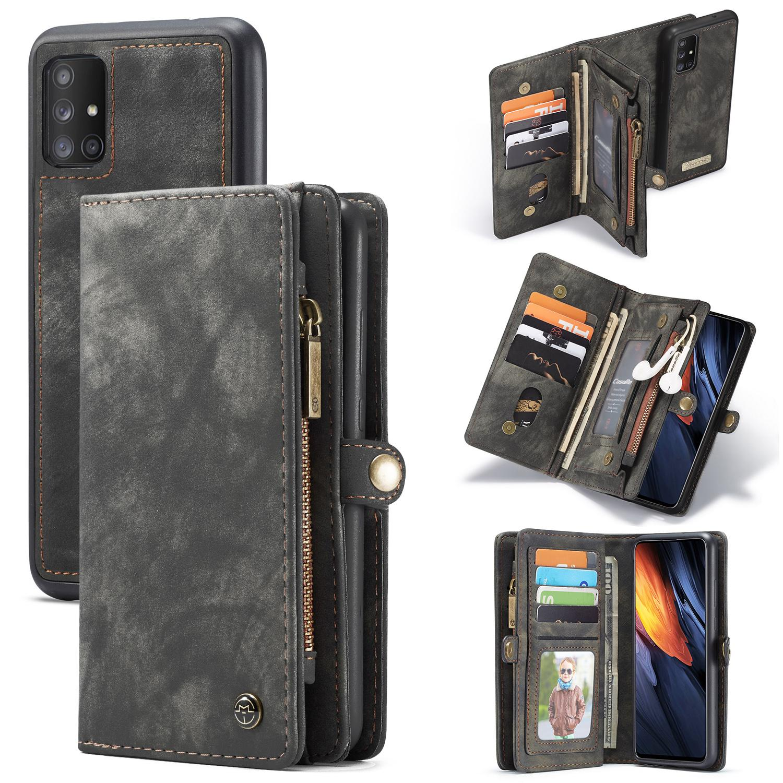 Multi-slot Suojakotelo Galaxy A71 harmaa