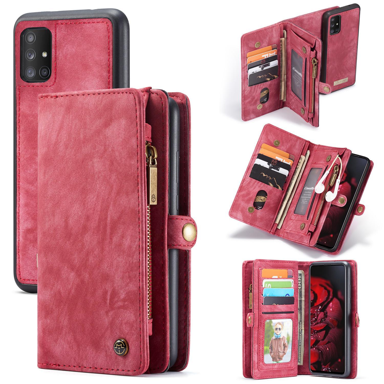 Multi-slot Suojakotelo Galaxy A71 punainen
