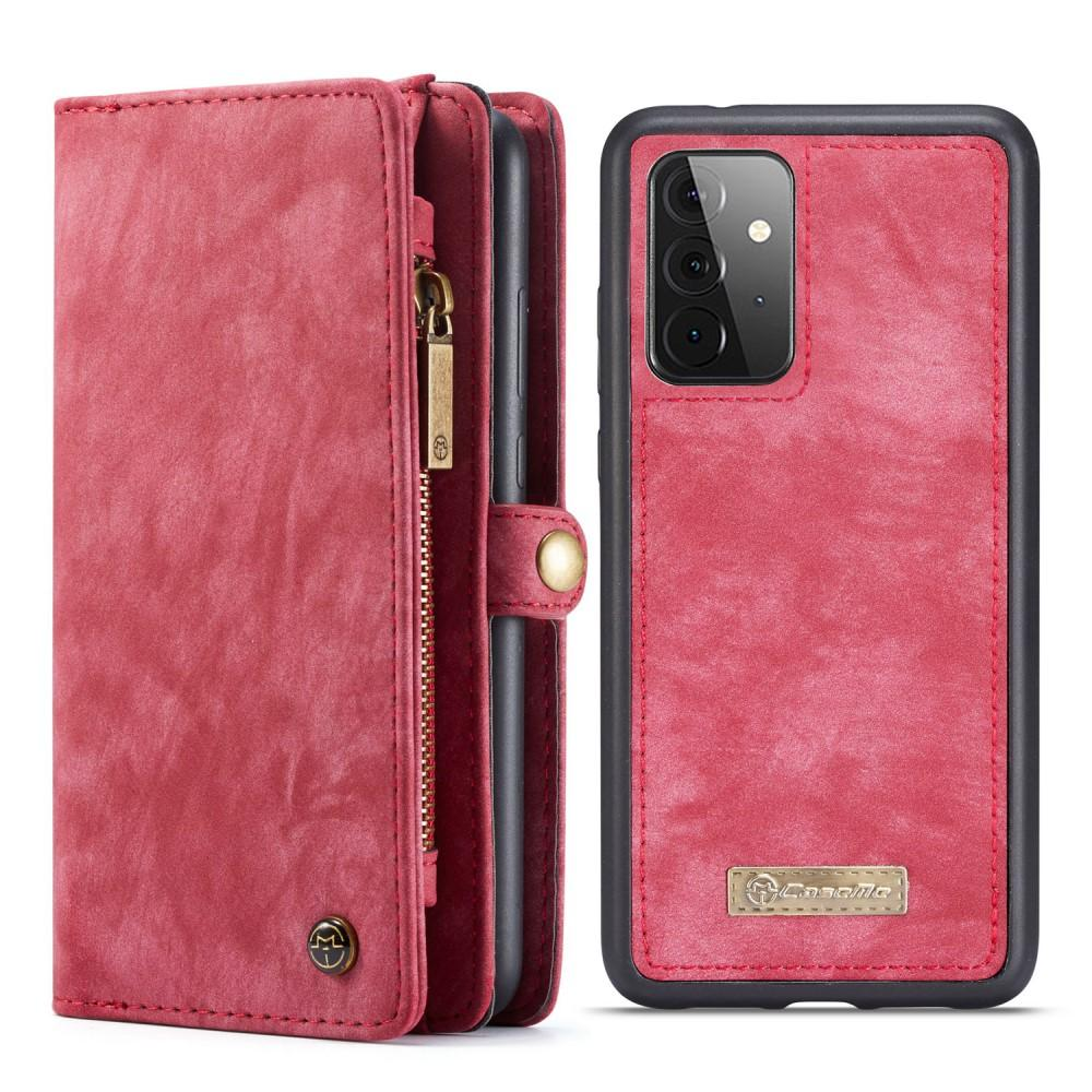 Multi-slot Suojakotelo Galaxy A72 5G punainen