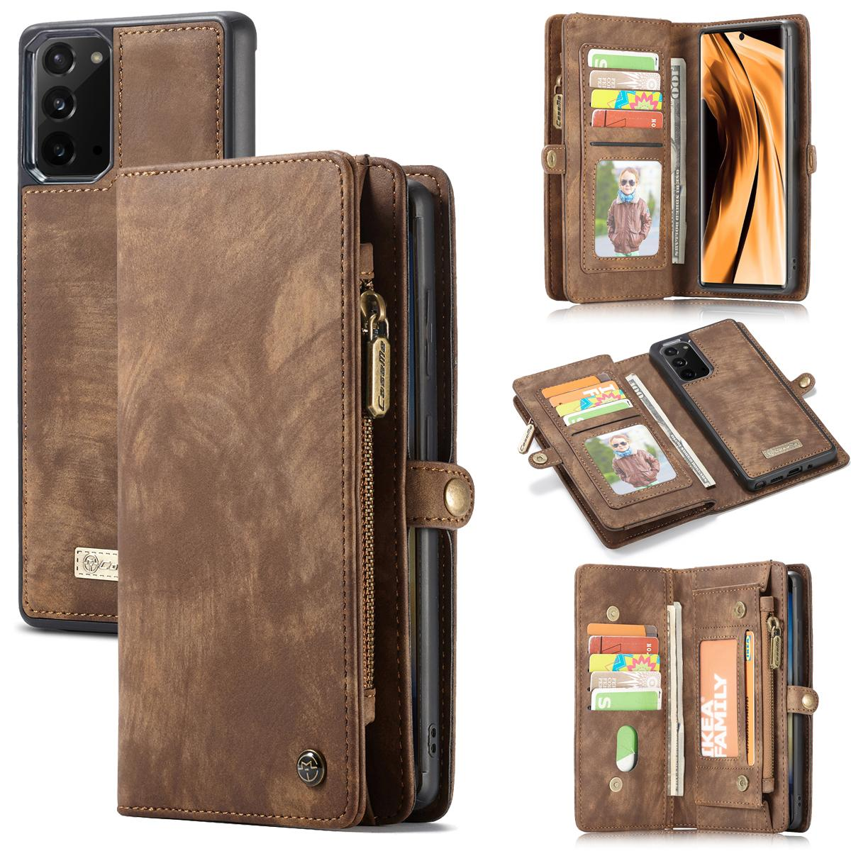 Multi-slot Suojakotelo Galaxy Note 20 ruskea