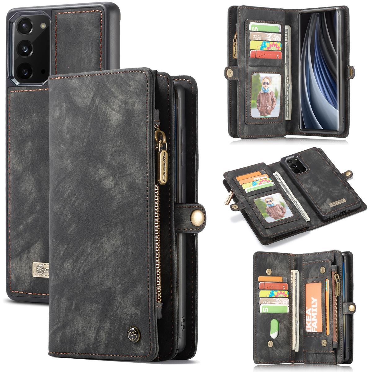 Multi-slot Suojakotelo Galaxy Note 20 harmaa