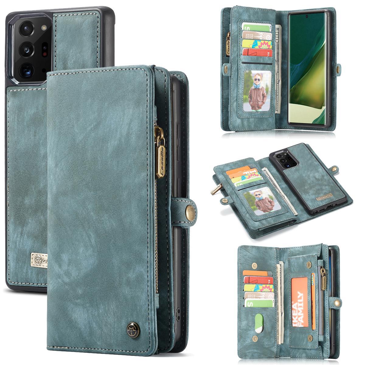 Multi-slot Suojakotelo Galaxy Note 20 Ultra sininen
