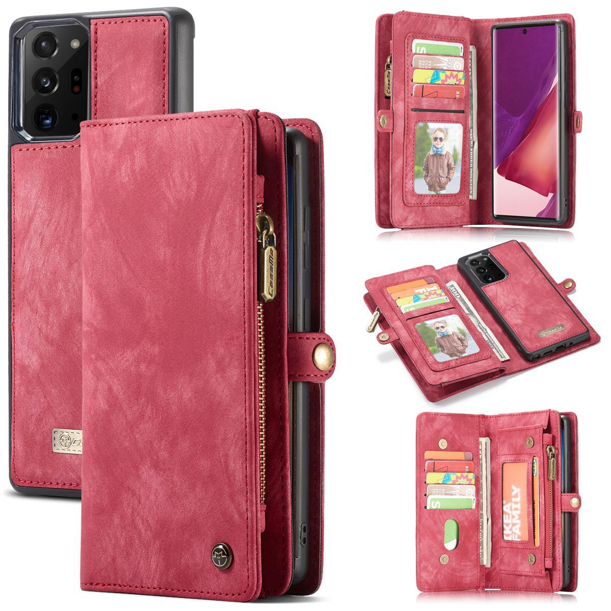 Multi-slot Suojakotelo Galaxy Note 20 Ultra punainen