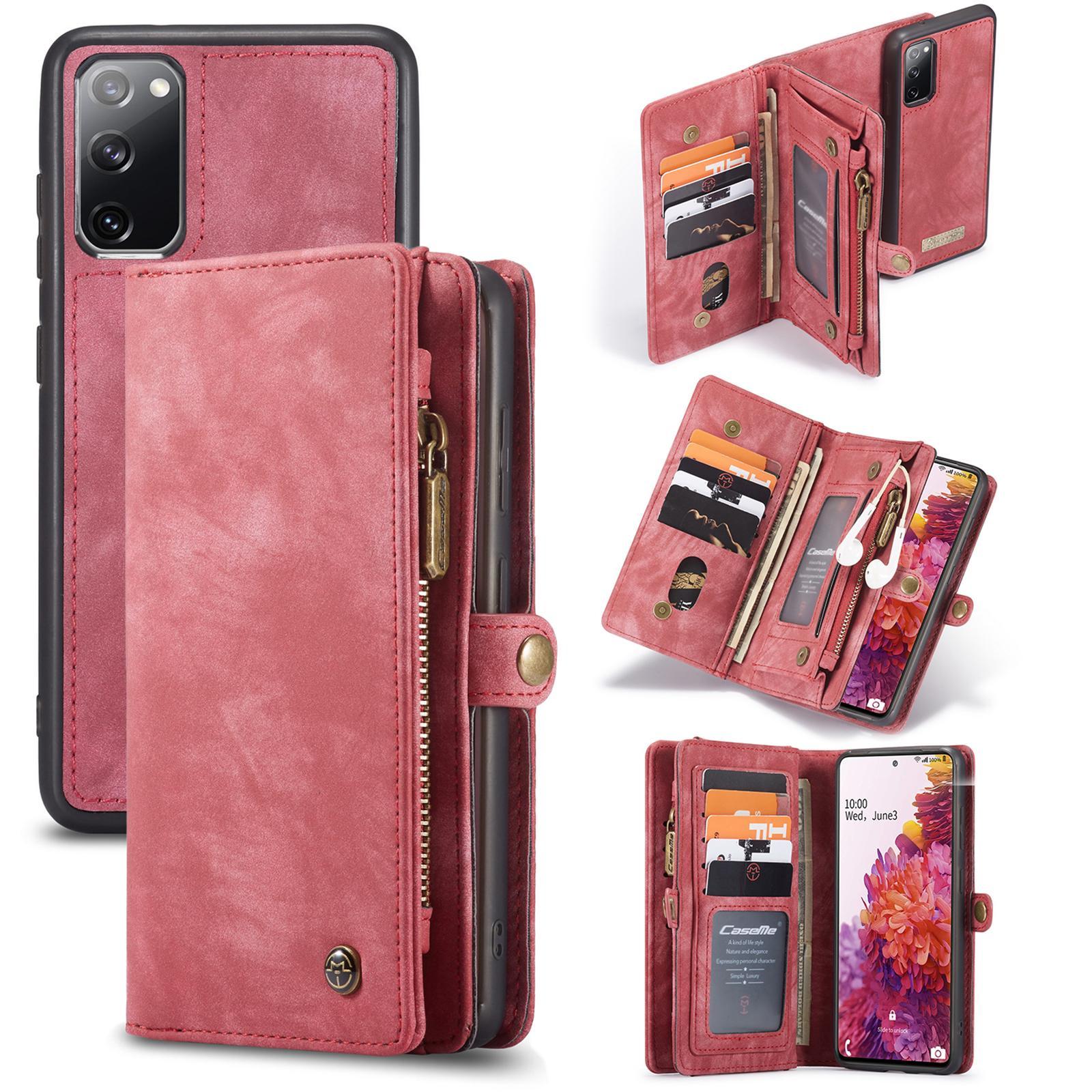 Multi-slot Suojakotelo Galaxy S20 FE punainen
