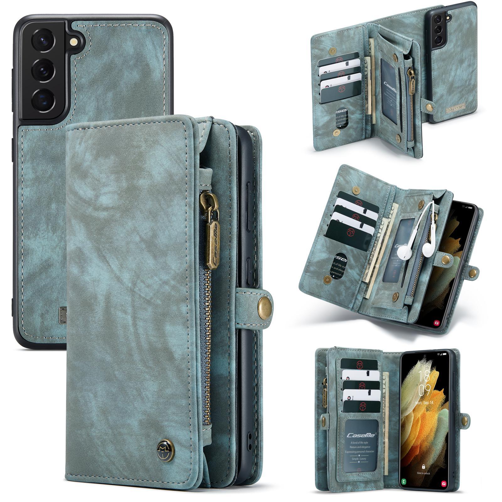 Multi-slot Suojakotelo Galaxy S21 sininen