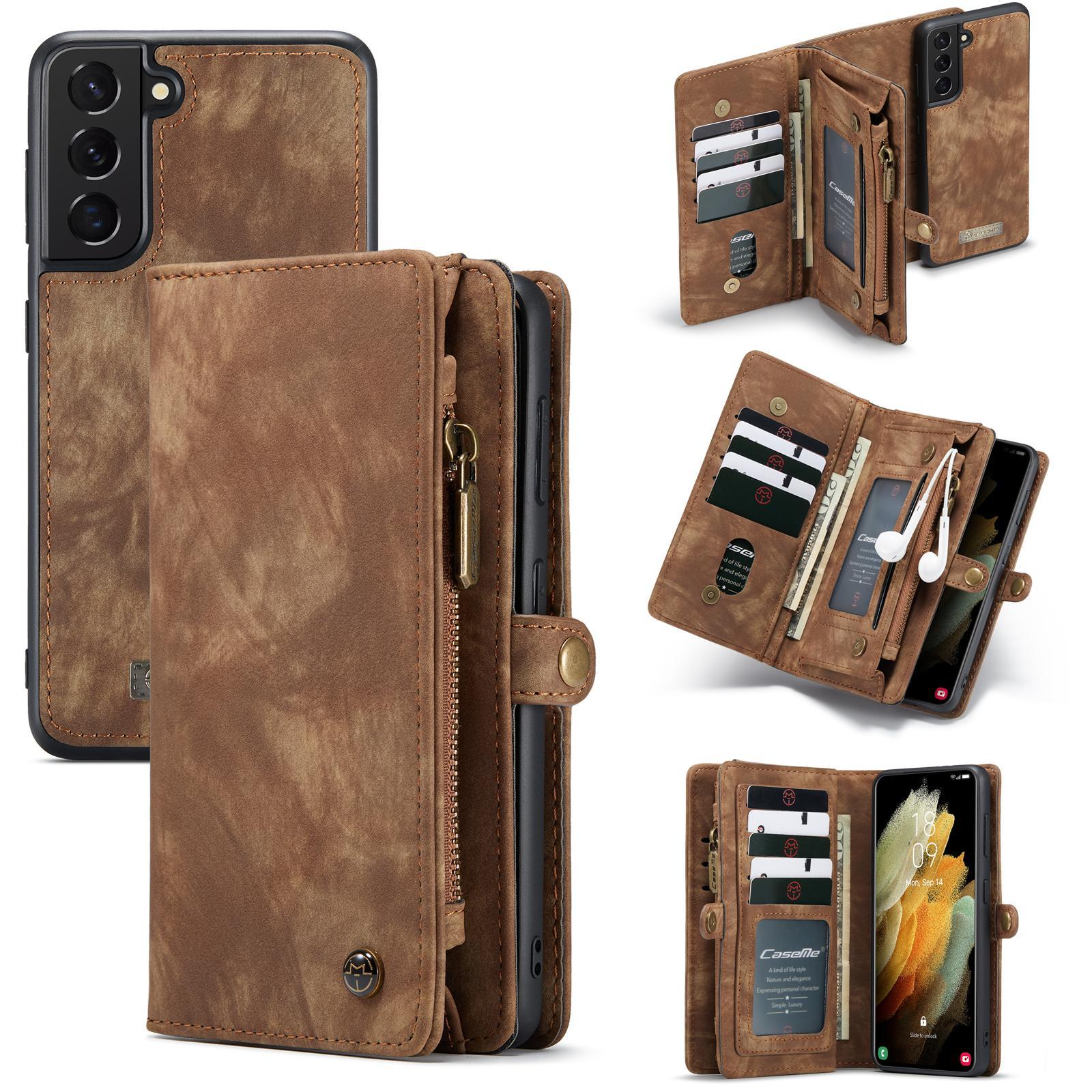 Multi-slot Suojakotelo Galaxy S21 ruskea