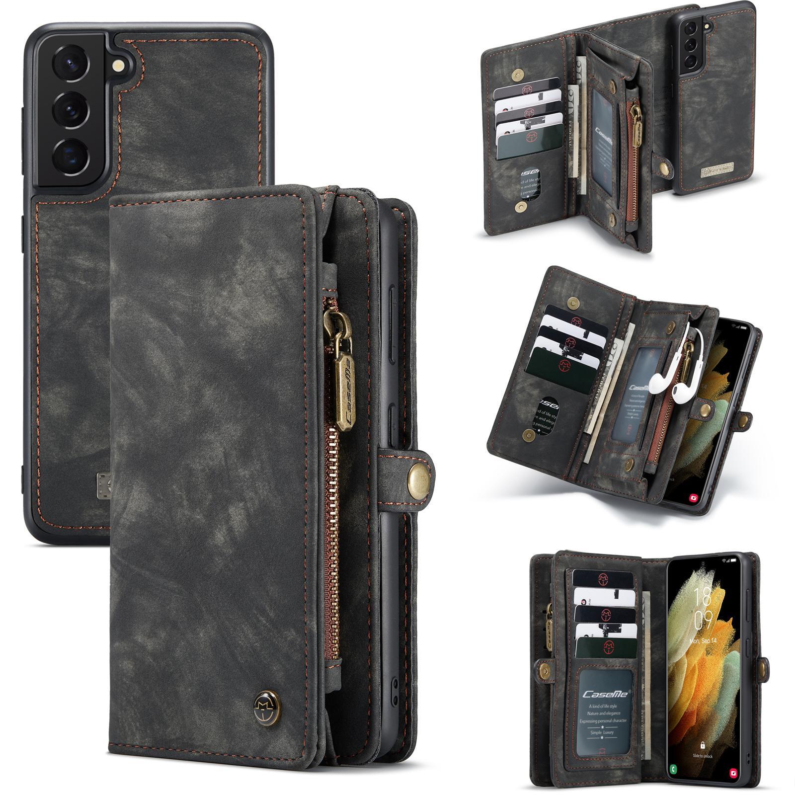 Multi-slot Suojakotelo Galaxy S21 harmaa