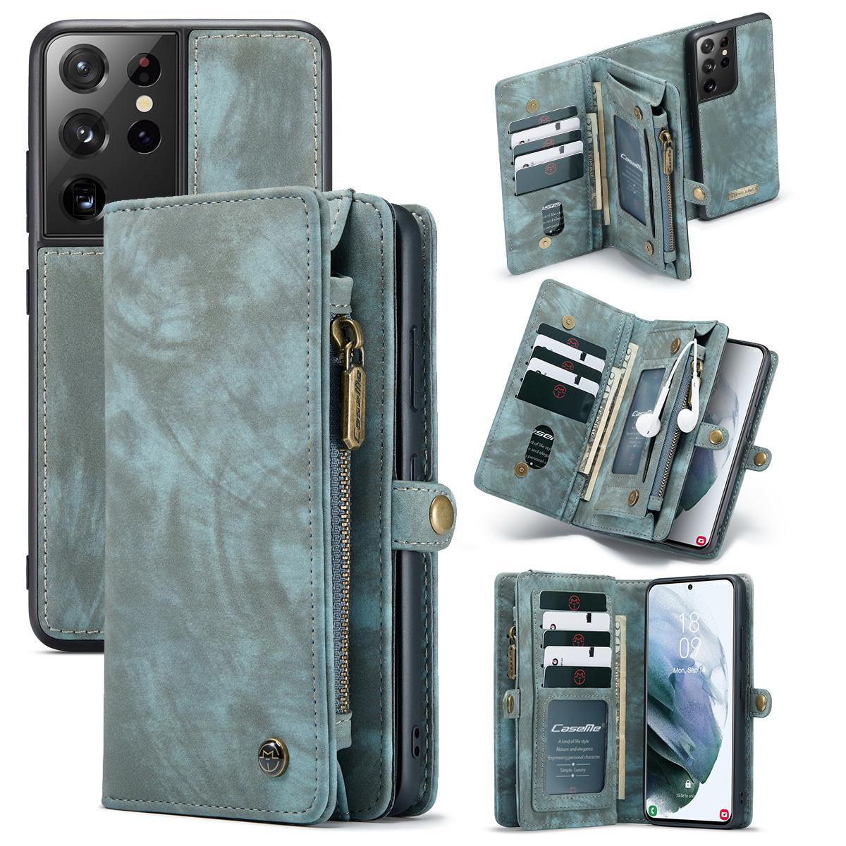 Multi-slot Suojakotelo Galaxy S21 Ultra sininen