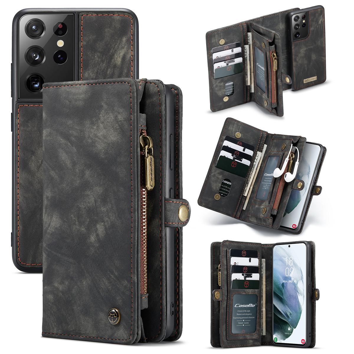 Multi-slot Suojakotelo Galaxy S21 Ultra harmaa
