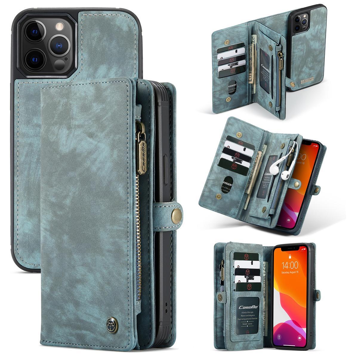 Multi-slot Suojakotelo iPhone 12/12 Pro sininen