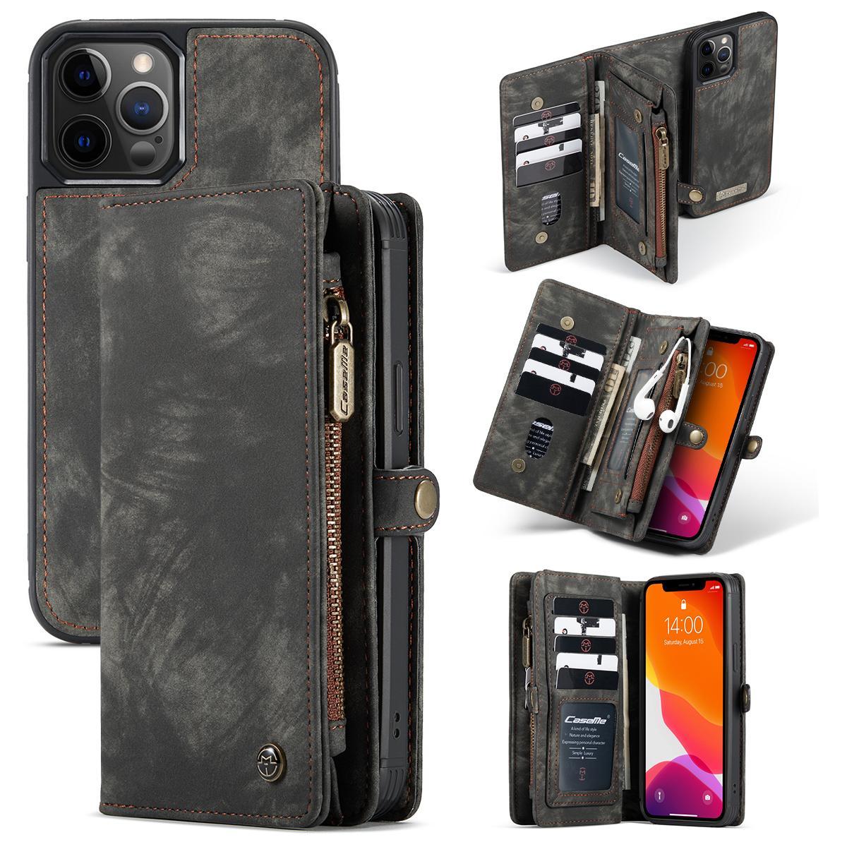 Multi-slot Suojakotelo iPhone 12/12 Pro harmaa