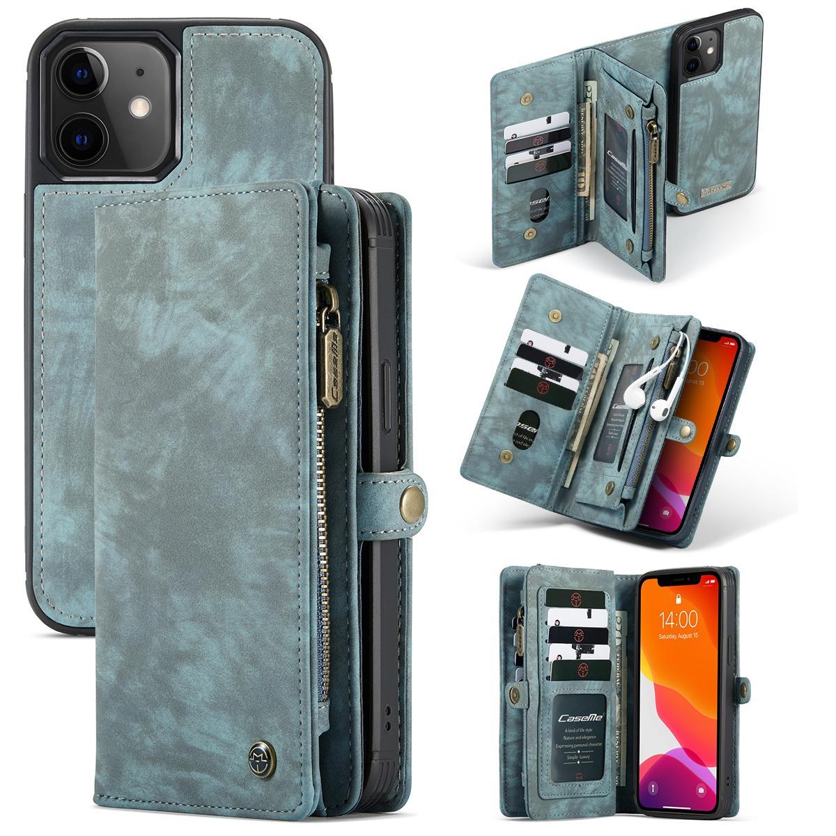 Multi-slot Suojakotelo iPhone 12 Mini sininen