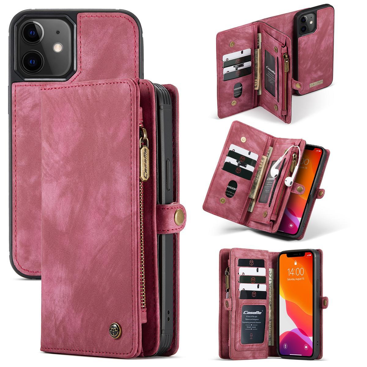 Multi-slot Suojakotelo iPhone 12 Mini punainen