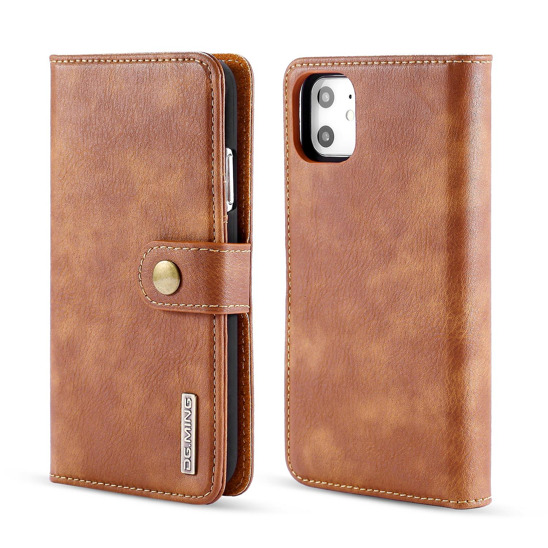 Magnet Wallet iPhone 11 Cognac
