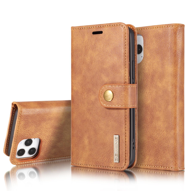 Magnet Wallet iPhone 12 Pro Max Cognac