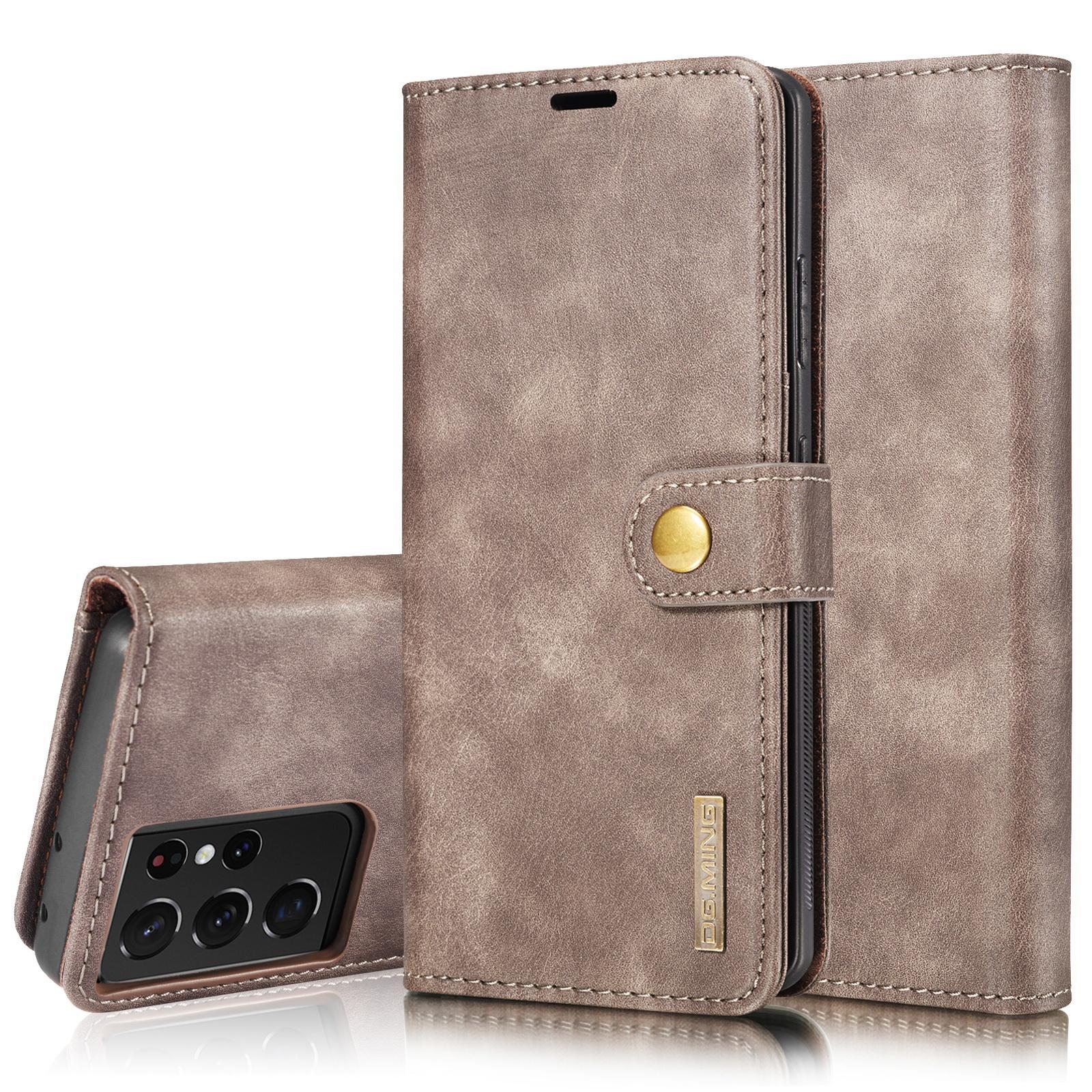 Magnet Wallet Samsung Galaxy S21 Ultra Brown
