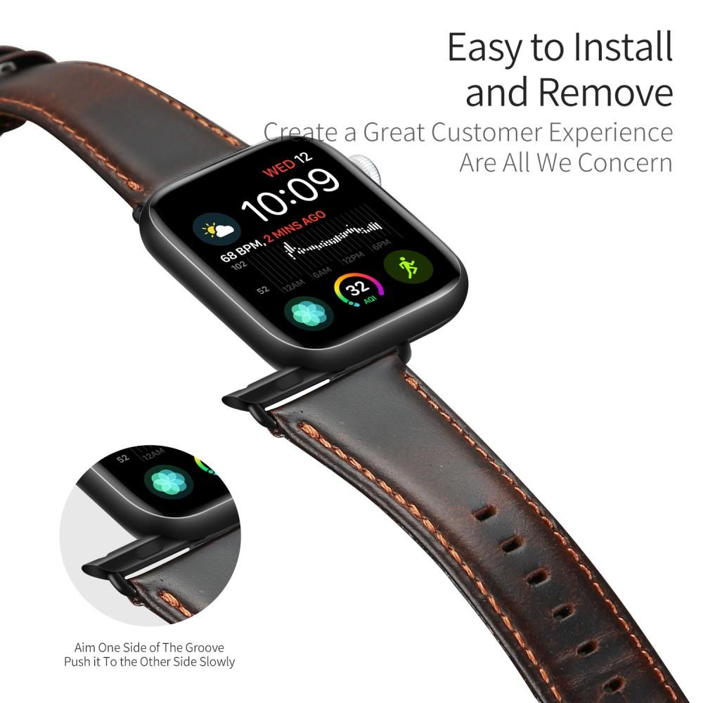 Leather Armband Apple Watch 42/44/45 mm Brown