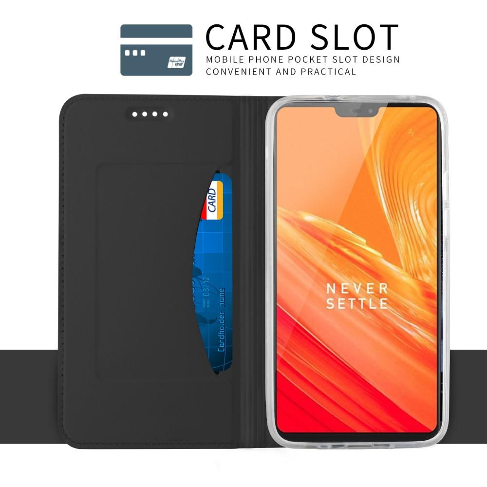 Slim Card Wallet OnePlus 6 musta