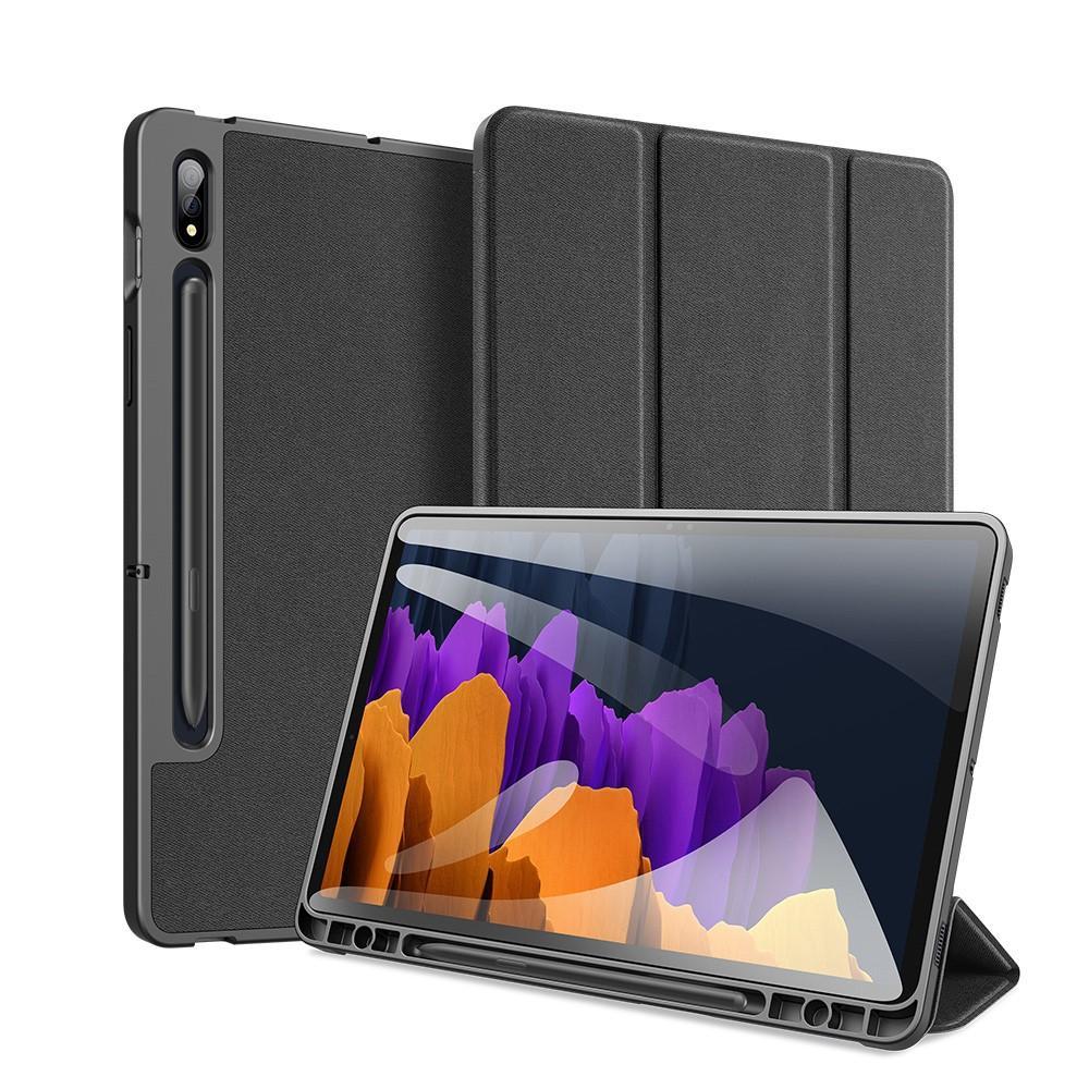 Domo Tri-fold Case Galaxy Tab S7 Plus 12.4 - Black