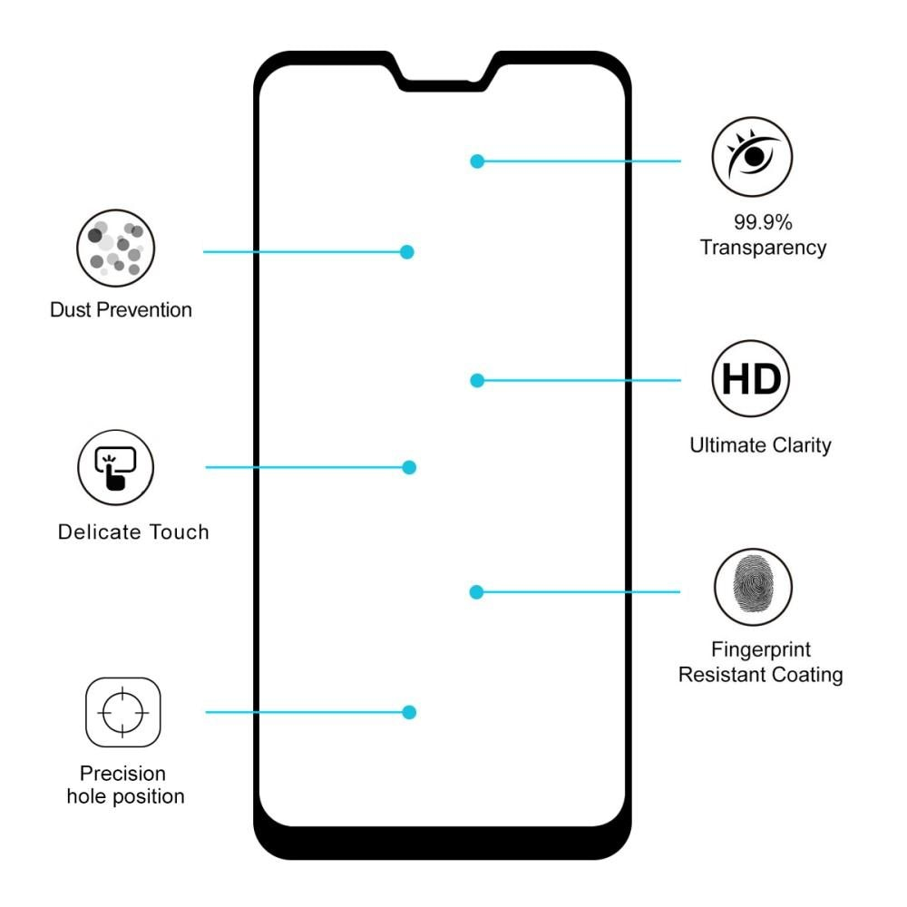 Full Glue Tempered Glass Asus ZenFone Max Pro M2 Black
