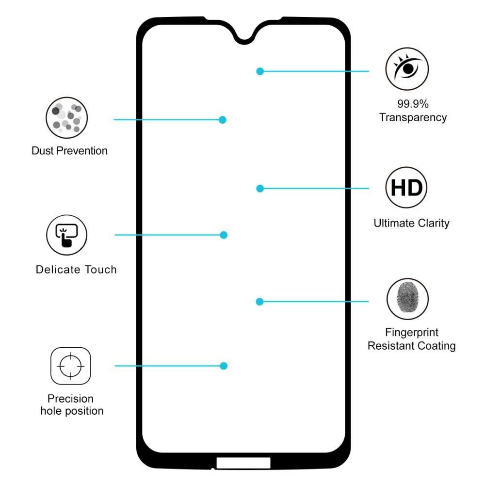 Full Glue Tempered Glass Moto G7/G7 Plus Black