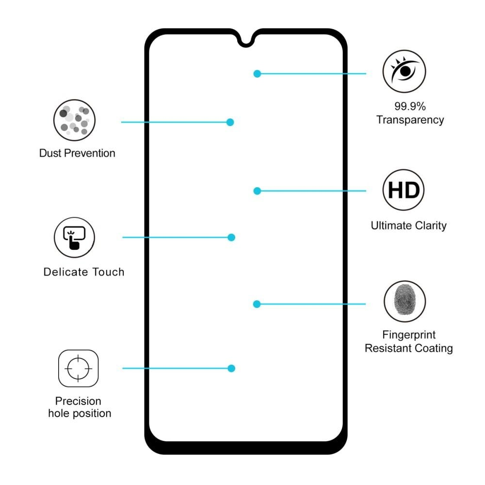 Full Glue Tempered Glass Motorola Moto G8 Plus Black