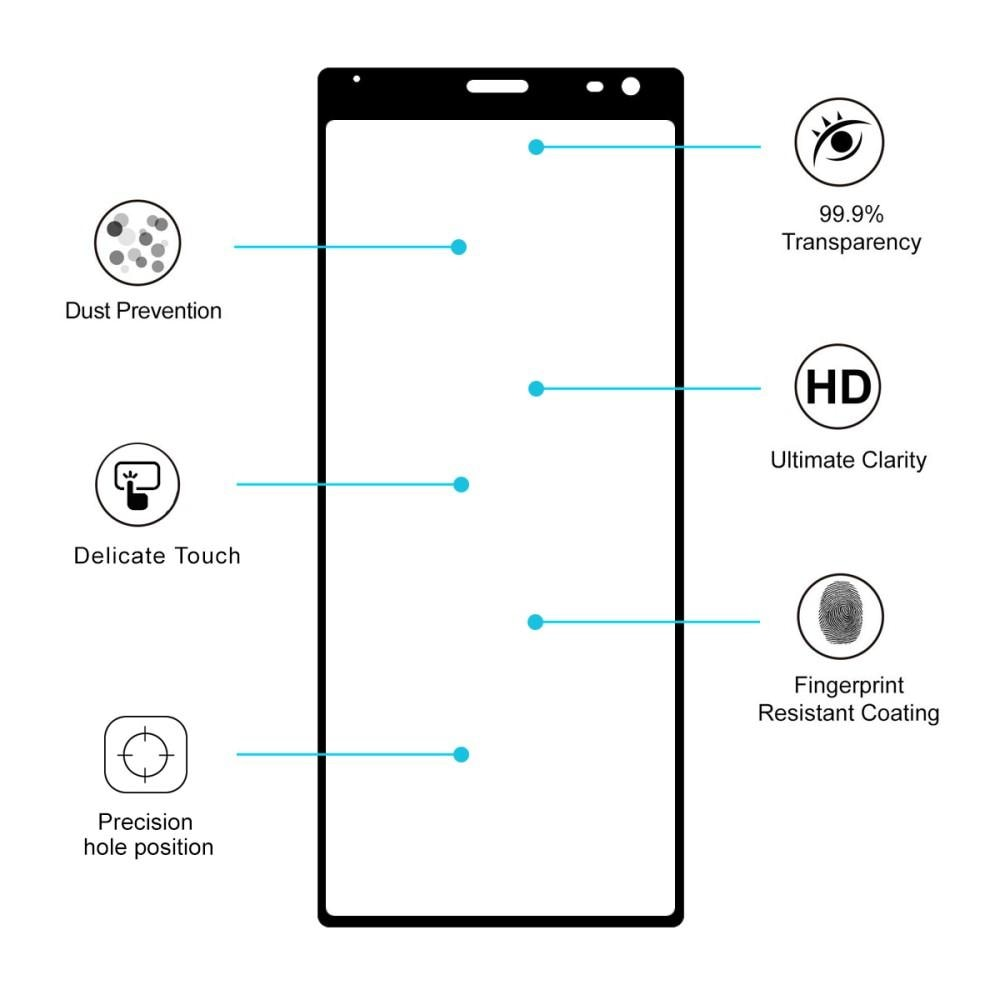 Full Glue Tempered Glass Sony Xperia 10 Black