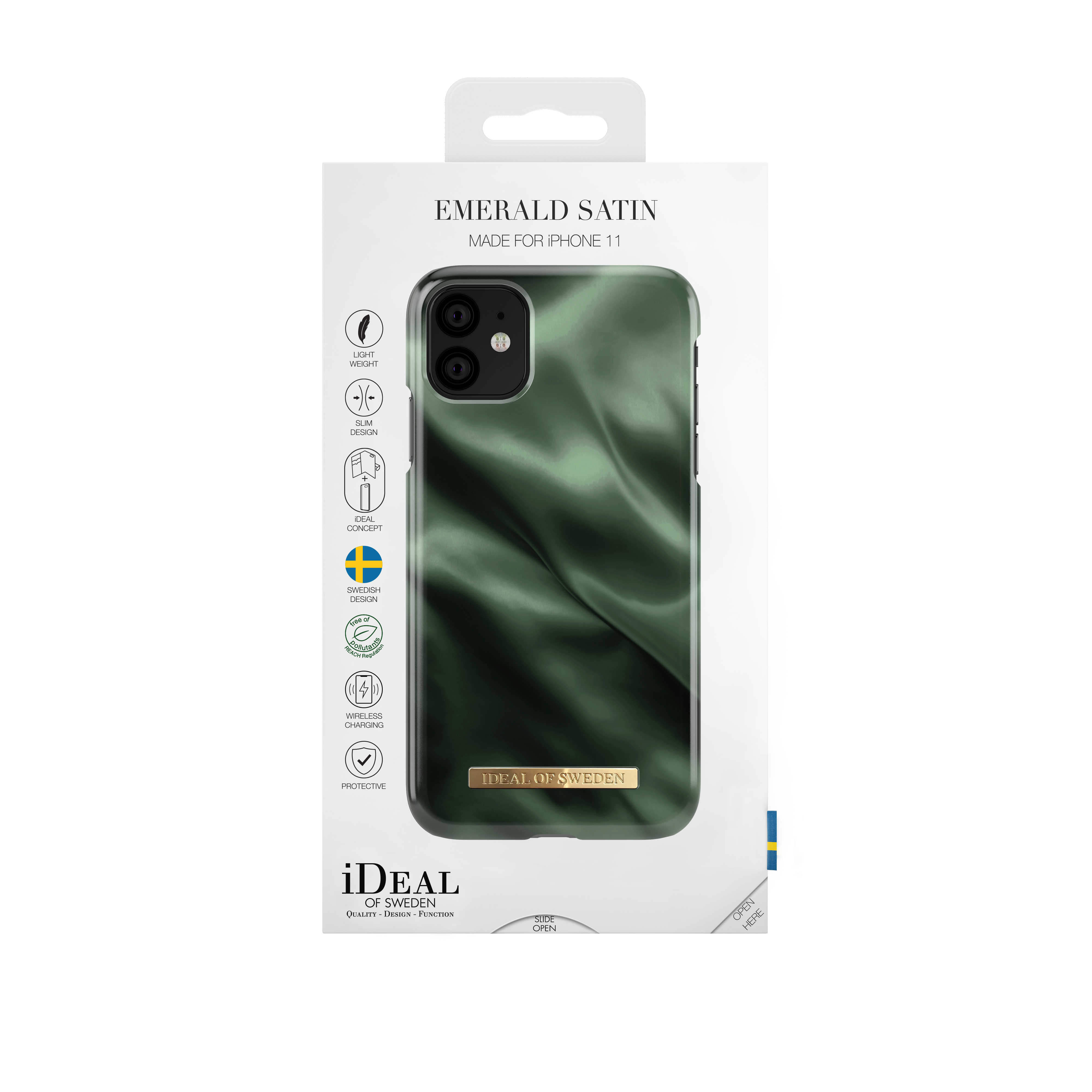 Fashion Case iPhone 11/XR Emerald Satin