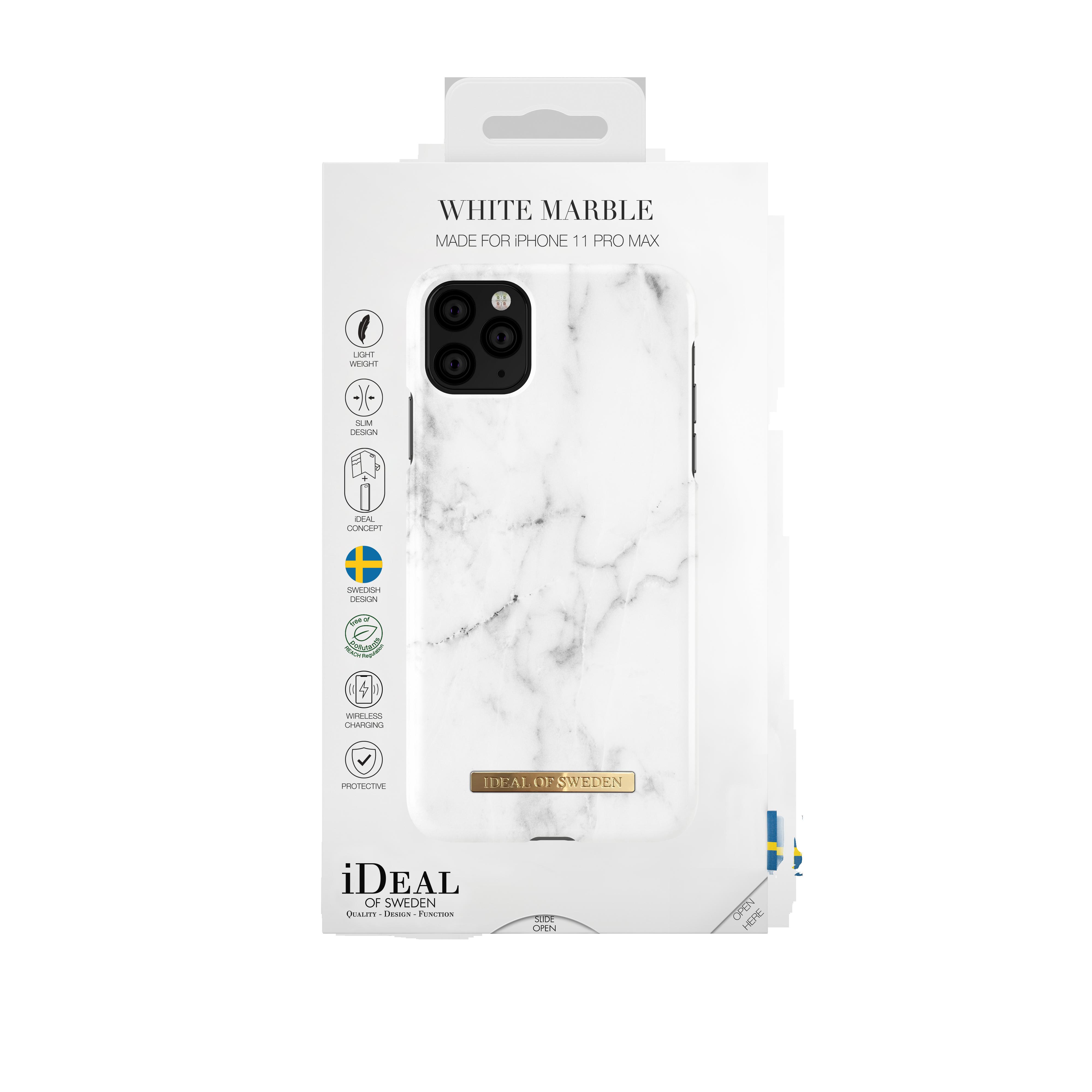 Fashion Case iPhone 11 Pro Max White Marble