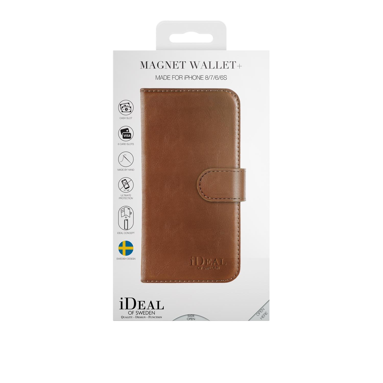 Magnet Wallet+ iPhone 6/6S/7/8/SE 2020 Brown