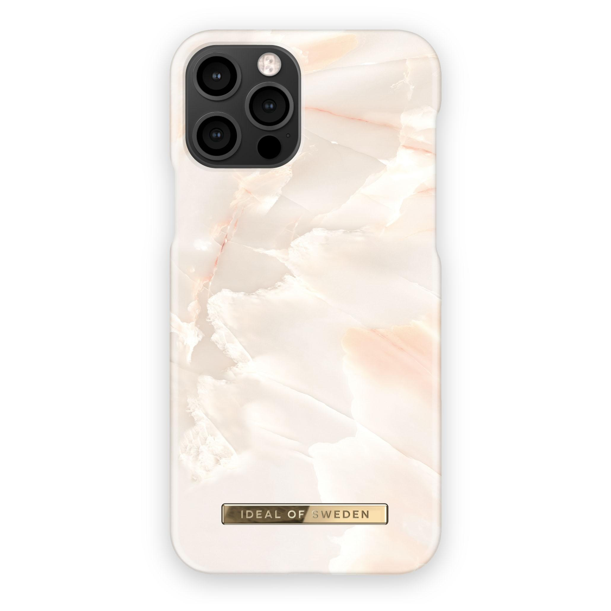 Fashion Case iPhone 12/12 Pro Rose Pearl Marble