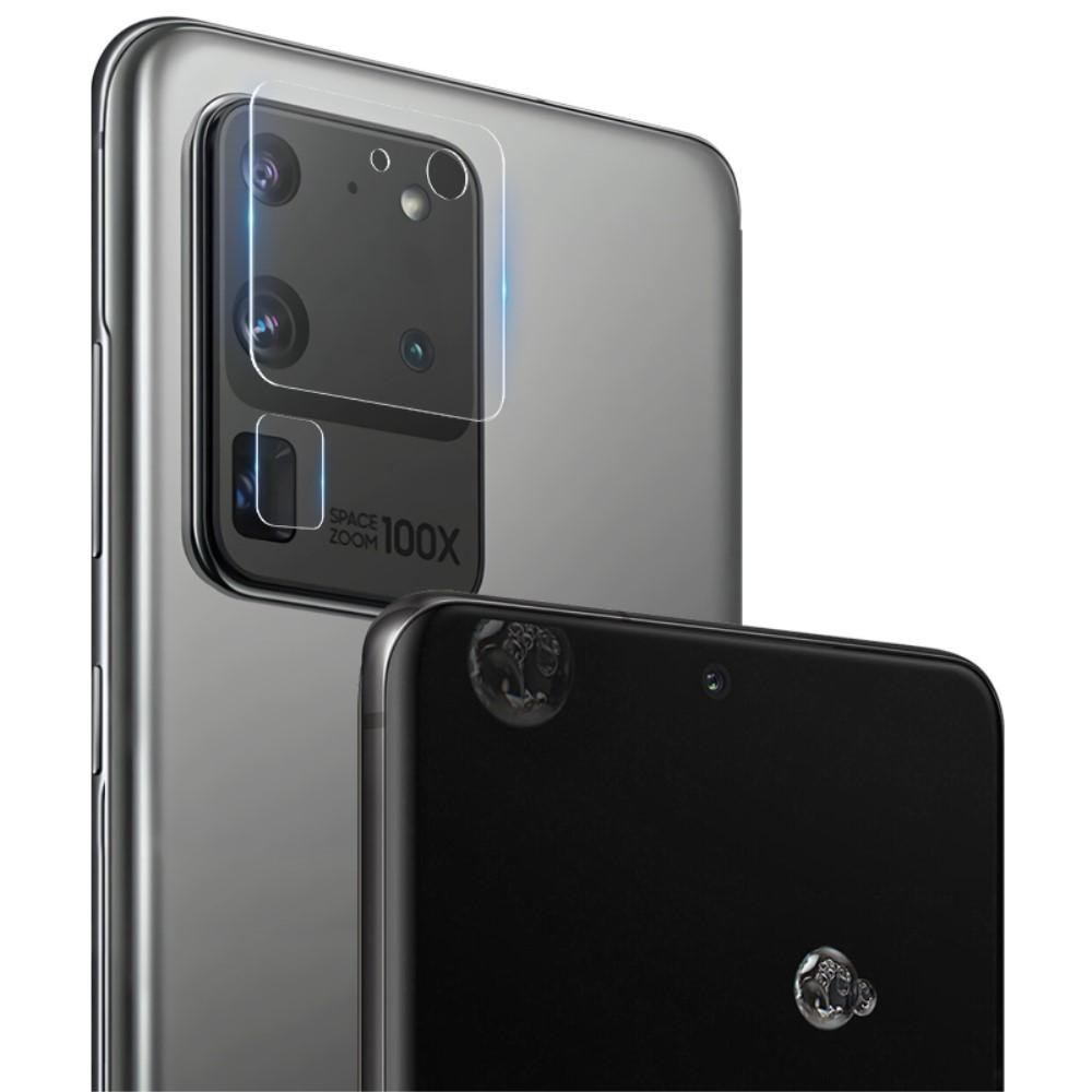 2-pack Panssarilasi Kameran Linssinsuoja Galaxy S20 Ultra
