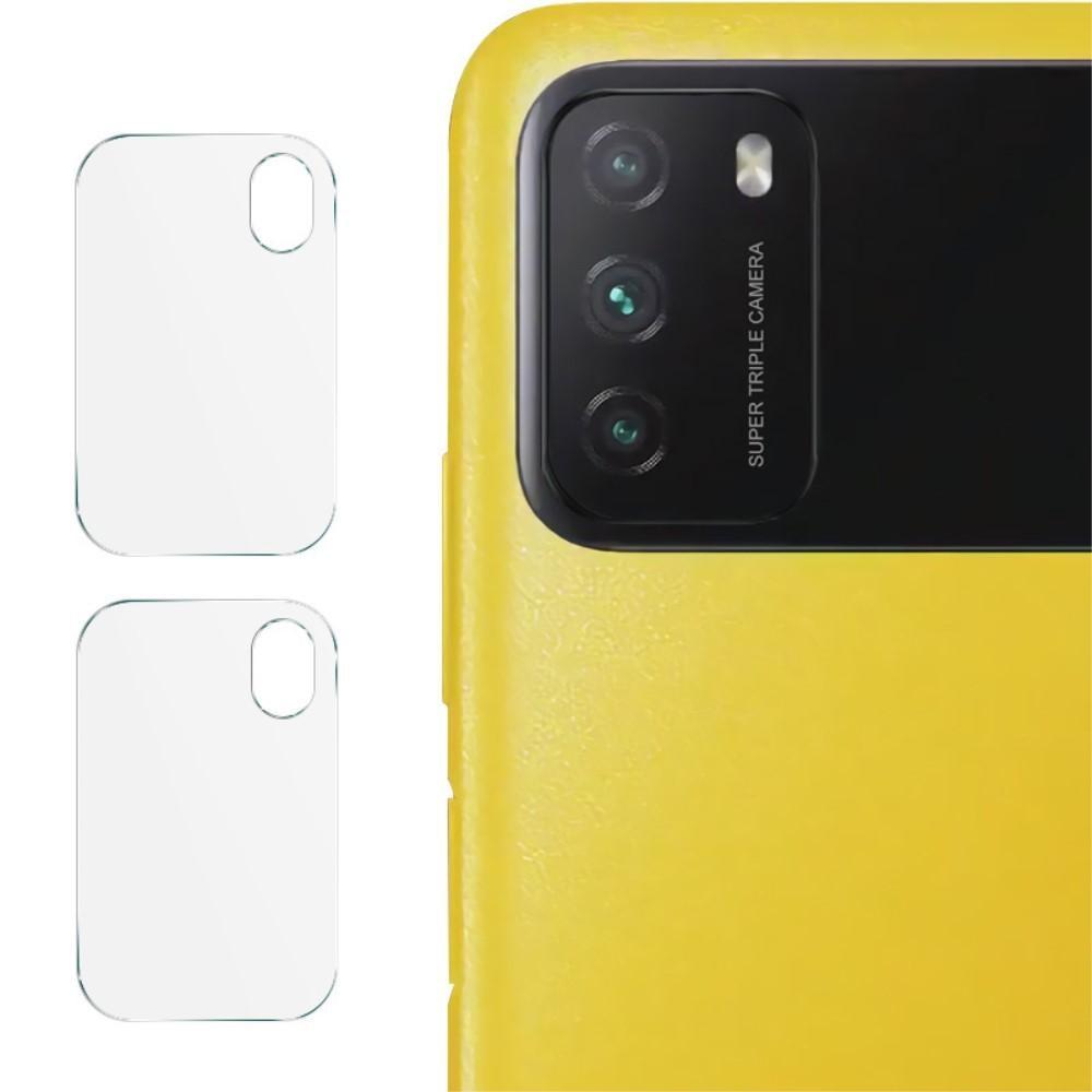 2-pack Panssarilasi Kameran Linssinsuoja Xiaomi Poco M3