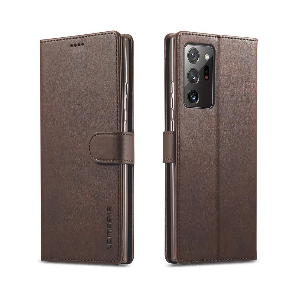 Lompakkokotelot Galaxy Note 20 Ultra ruskea