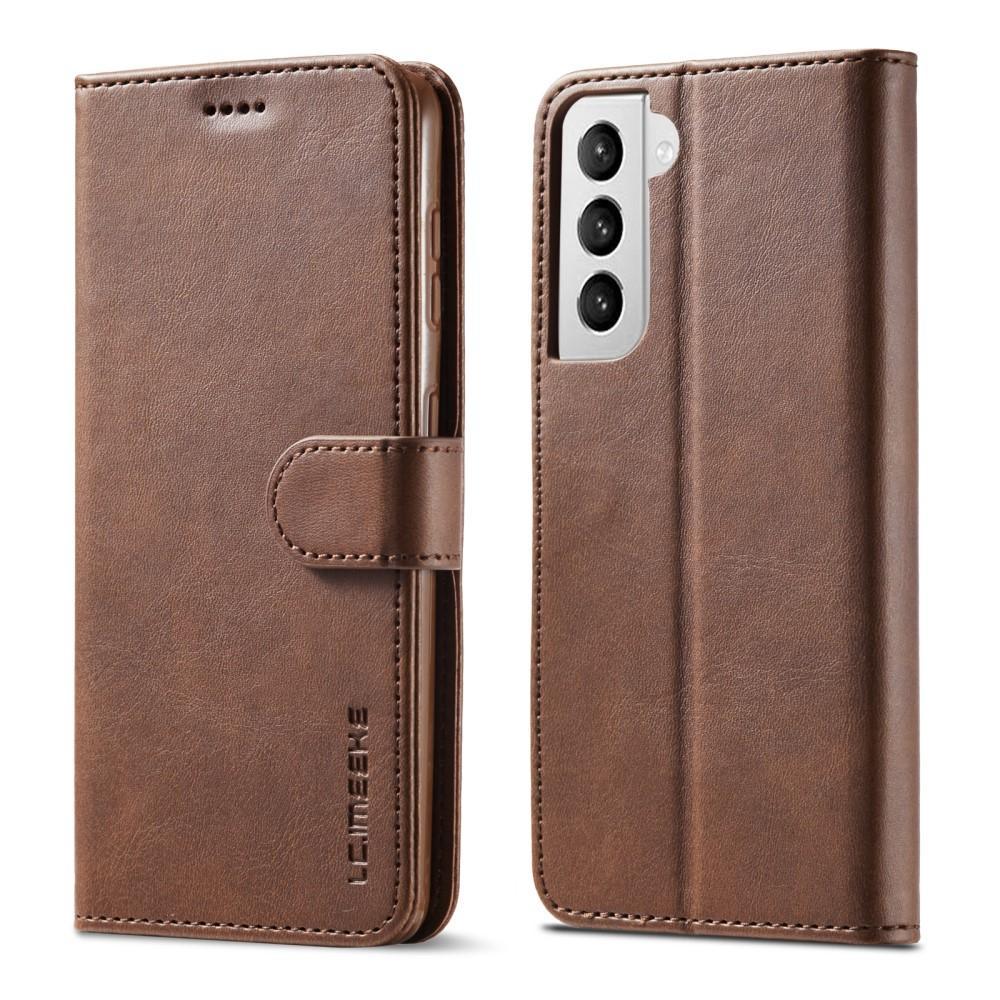 Lompakkokotelot Samsung Galaxy S21 ruskea