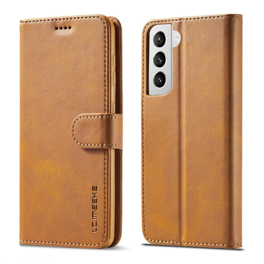 Lompakkokotelot Samsung Galaxy S21 cognac