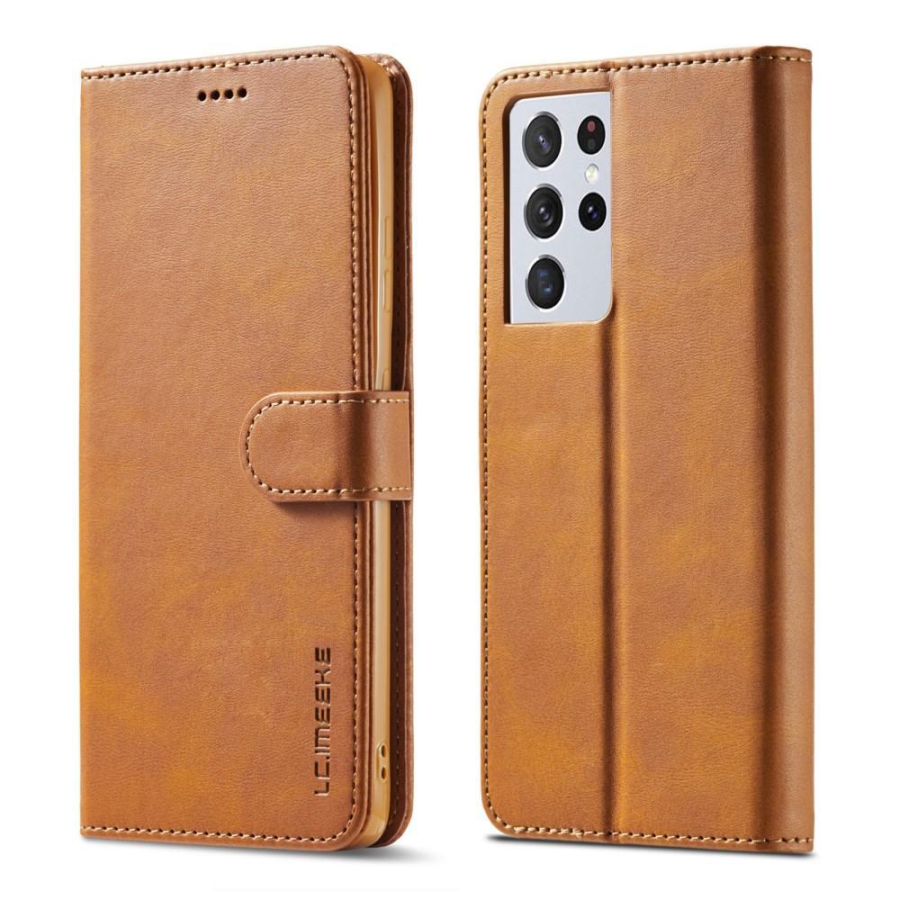 Lompakkokotelot Samsung Galaxy S21 Ultra cognac