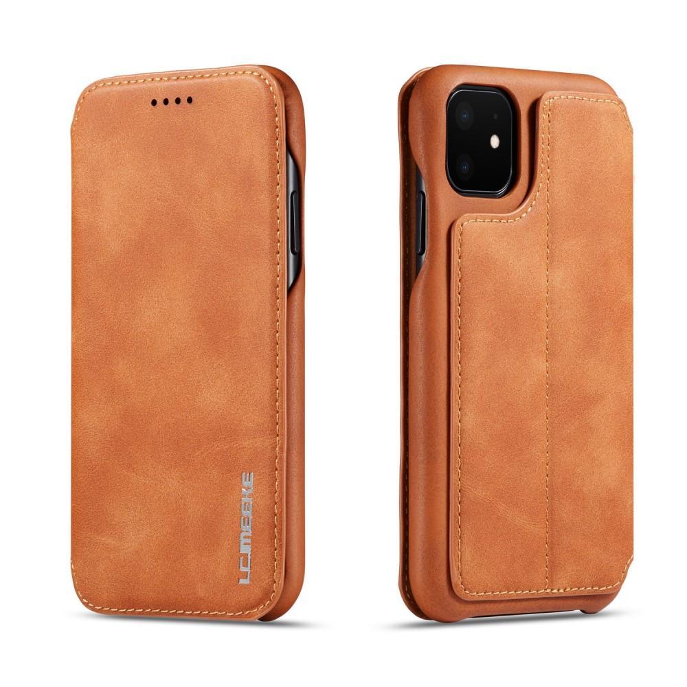 Slim Lompakkokotelot iPhone 11 cognac