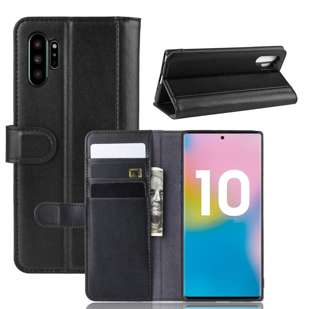 Aito Nahkakotelo Galaxy Note 10 Plus musta