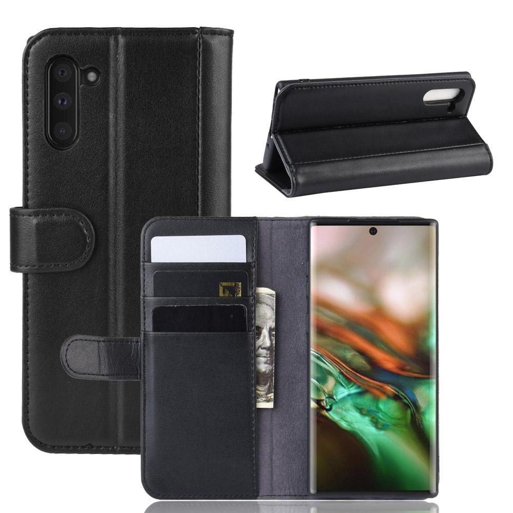 Aito Nahkakotelo Galaxy Note 10 musta