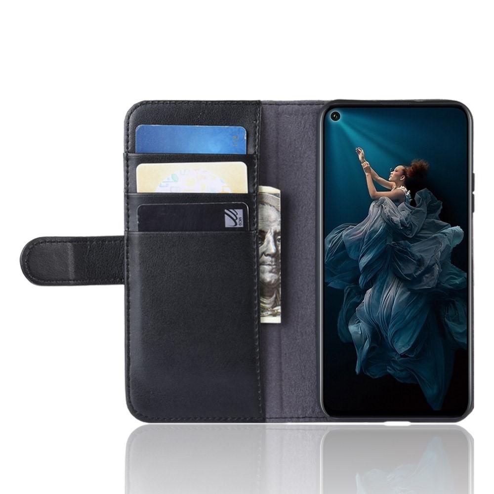 Aito Nahkakotelo Huawei Nova 5T/Honor 20 musta