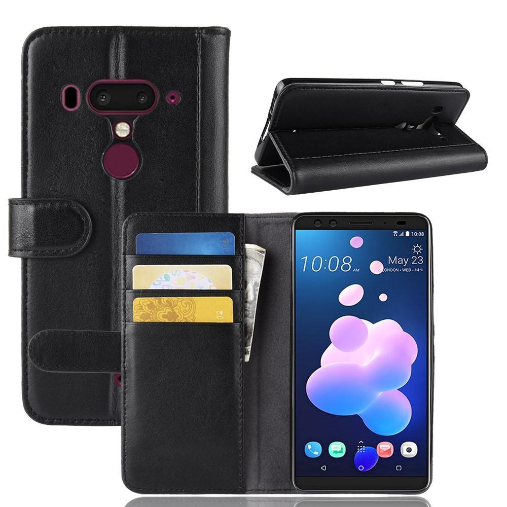 Aito Nahkakotelo HTC U12+ musta