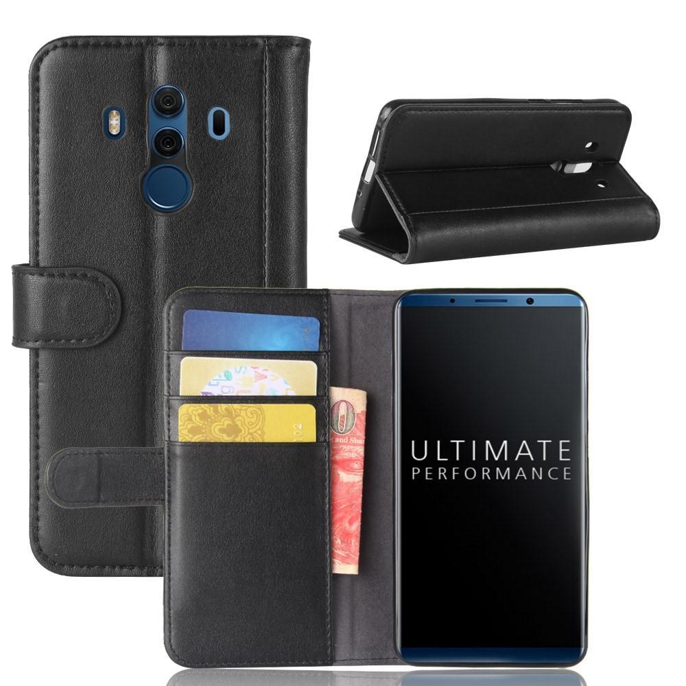 Aito Nahkakotelo Huawei Mate 10 Pro musta