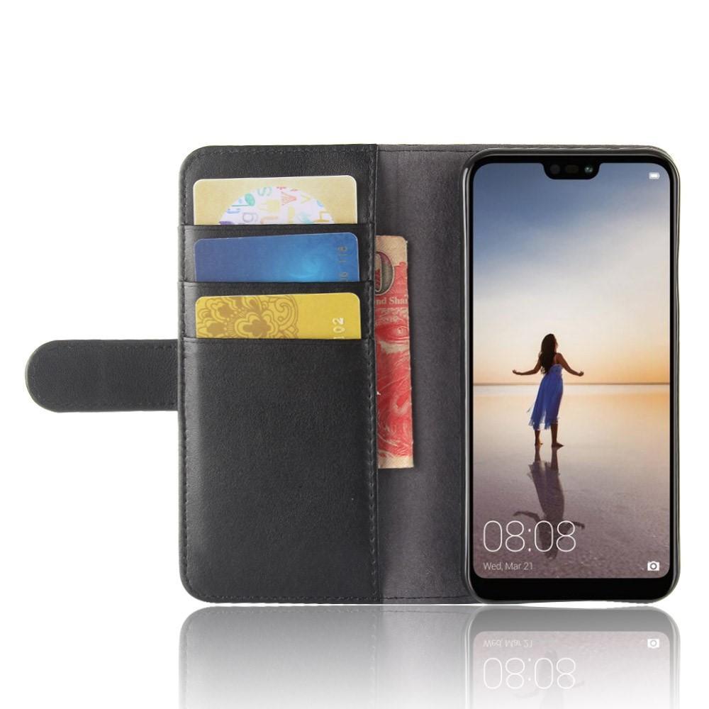 Aito Nahkakotelo Huawei P20 Lite musta
