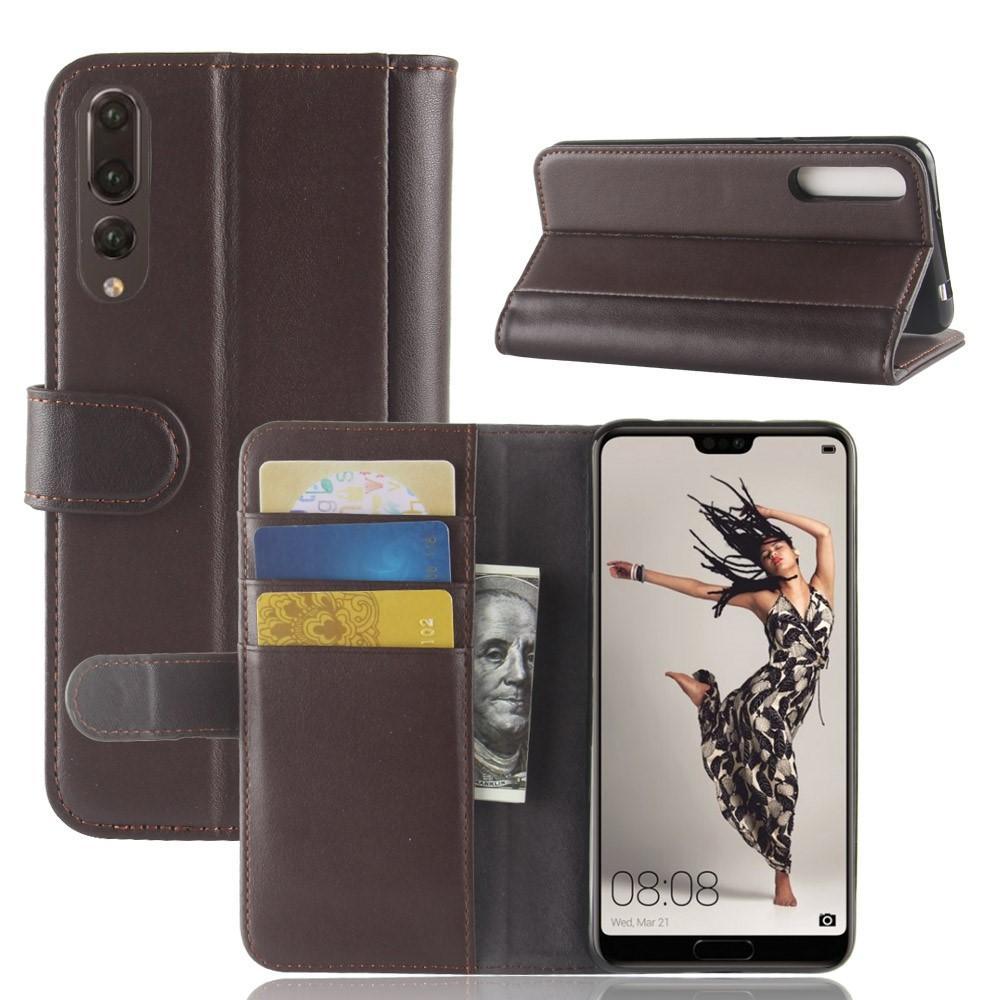 Aito Nahkakotelo Huawei P20 Pro ruskea